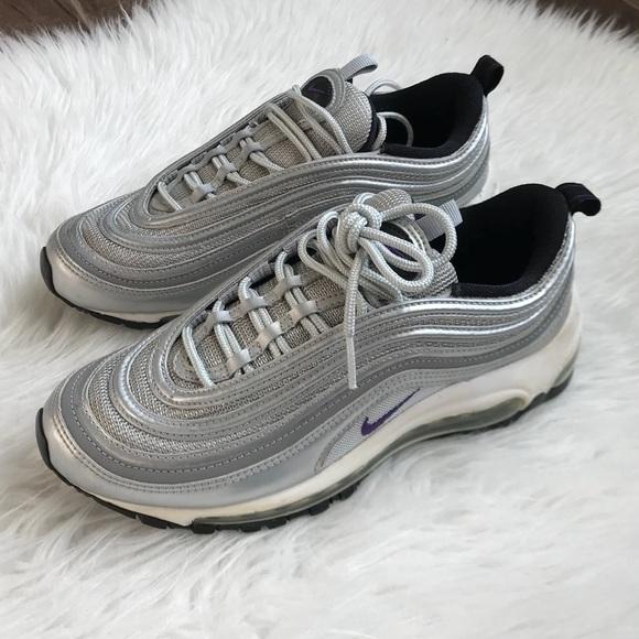 RARE Nike Air Max 97 Silver Purple Shoes
